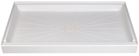 Mustee shower base 60 inch x 34 inch 3460 White
