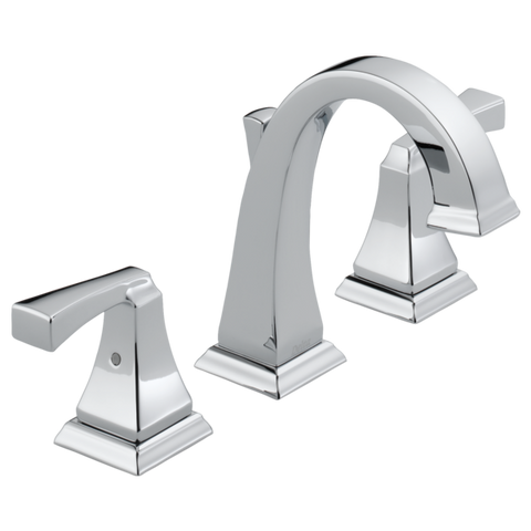 Delta Dryden Two Handle Widespread Lavatory Faucet Metal Pop-up 3551LF Chrome