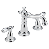 Delta Victorian Two Handle Widespread Lavatory Faucet Metal Pop-up 3555-MPU-DST Chrome
