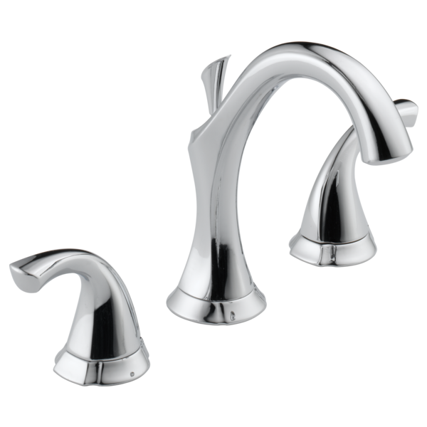 Delta Addison Two Handle Widespread Lavatory Faucet Metal Pop-up 3592LF Chrome