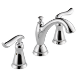 Delta Linden Two Handle Widespread Lavatory Faucet Metal Pop-up 3594-MPU-DST Chrome
