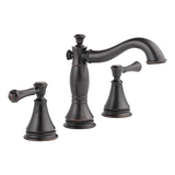 Delta Cassidy Two Handle Widespread Lavatory Faucet Metal Pop-up 3597LF-RBMPU Venetian Bronze