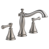 Delta Cassidy Two Handle Widespread Lavatory Faucet Metal Pop-up 3597LF-SSMPU Stainless