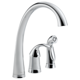 Delta Pilar Single Handle Kitchen Faucet with Side Spray 4380-DST Chrome