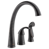 Delta Pilar Single Handle Kitchen Faucet with Side Spray 4380-RB-DST Venetian Bronze