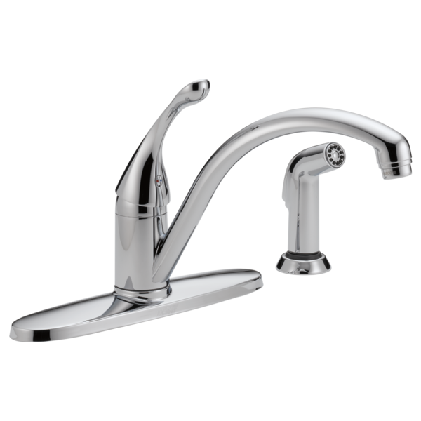 Delta Collins Single Handle Kitchen Faucet with Side Spray 440-DST Chrome