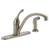 Delta Collins Single Handle Kitchen Faucet with Side Spray 440-SS-DST Stainless