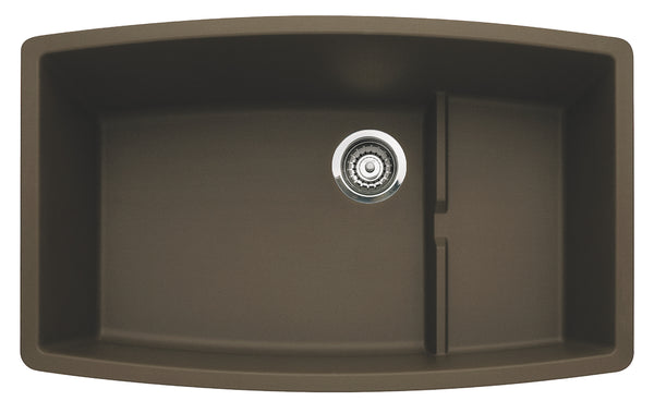 Blanco Silgranit Performa Cascade - Super Single Bowl Undermount Kitchen Sink Cafe Brown 440063