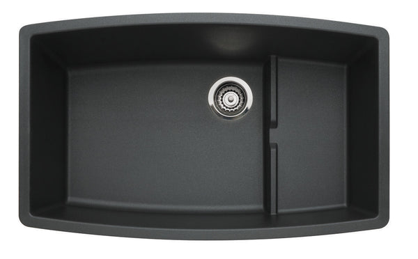 Blanco Silgranit Performa Cascade - Super Single Bowl Undermount Kitchen Sink Anthracite 440064