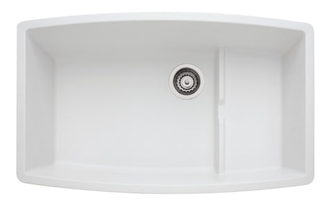 Blanco Silgranit Performa Cascade - Super Single Bowl Undermount Kitchen Sink White 440066