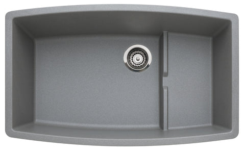 Blanco Silgranit Performa Cascade - Super Single Bowl Undermount Kitchen Sink Metallic Gray 440067