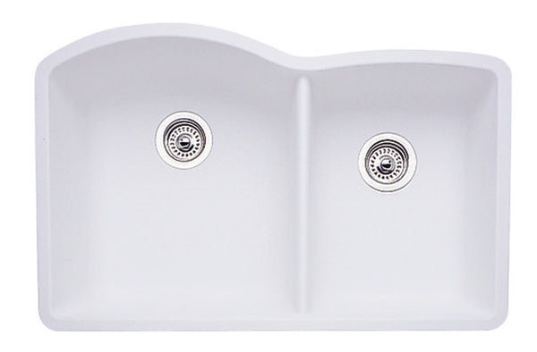 Blanco Silgranit Diamond - Undermount Kitchen Sink, 1-3/4 Bowl White 440180