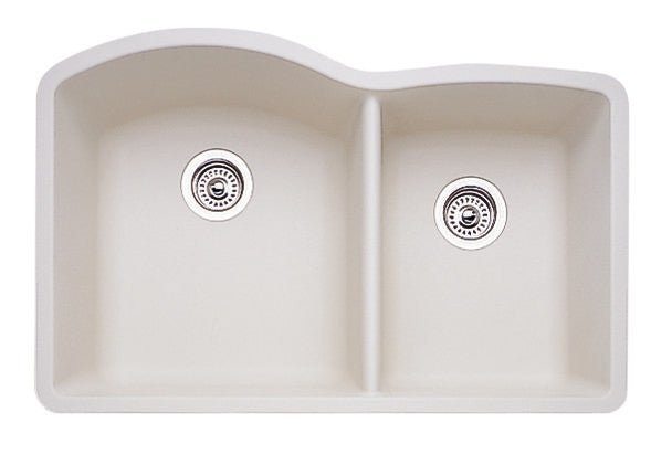 Blanco Silgranit Diamond - Undermount Kitchen Sink, 1-3/4 Bowl Biscuit 440181