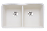 Blanco Silgranit Diamond - Undermount Kitchen Sink, Equal Double Bowl Biscuit 440186