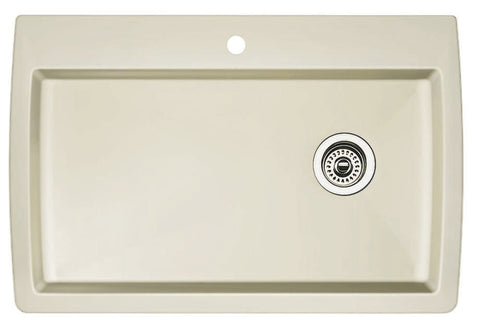 Blanco Silgranit Diamond - Dual Deck Kitchen Sink, Super Single Bowl Biscuit 440196