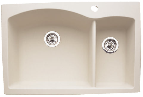 Blanco Silgranit Diamond - Dual Deck Kitchen Sink, 1-1/2 Bowl Biscuit 440201