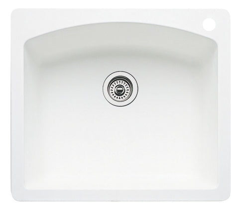 Blanco Silgranit Diamond - Dual Deck Single Bowl Kitchen Sink White 440211
