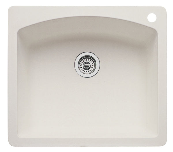 Blanco Silgranit Diamond - Dual Deck Single Bowl Kitchen Sink Biscuit 440212