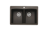 Blanco Silgranit Diamond - Dual Deck Kitchen Sink, Equal Double Bowl Cafe Brown 440218