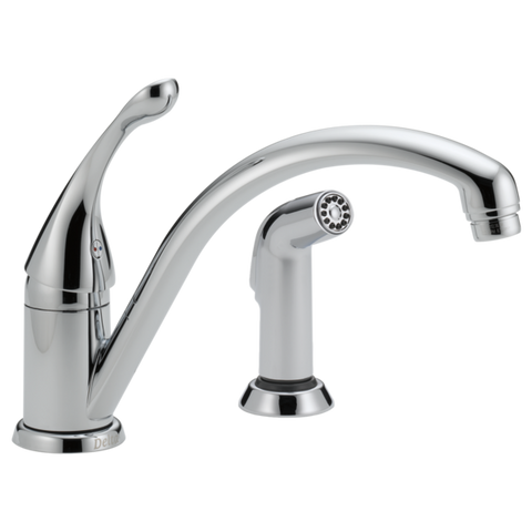 Delta Collins Single Handle Kitchen Faucet with Side Spray 441-DST Chrome