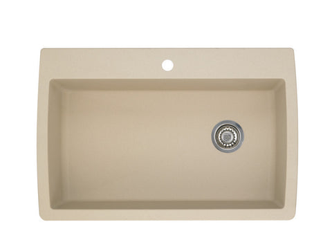 Blanco Silgranit Diamond - Dual Deck Kitchen Sink, Super Single Bowl Biscotti 441214