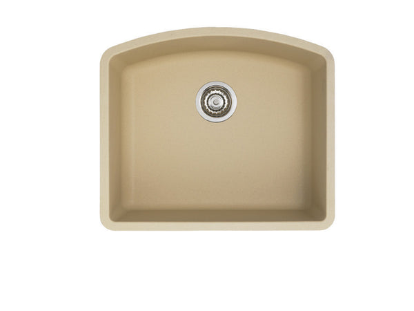 Blanco Silgranit Diamond - Undermount Kitchen Sink, Single Bowl Biscotti 441220