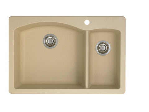 Blanco Silgranit Diamond - Dual Deck Kitchen Sink, 1-1/2 Bowl Biscotti 441221
