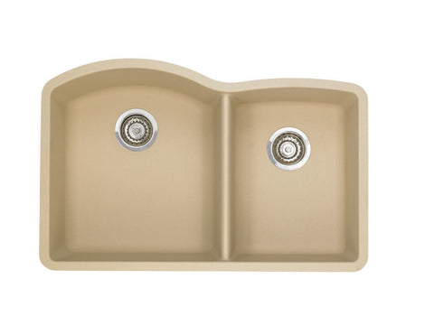 Blanco Silgranit Diamond - Undermount Kitchen Sink, 1-3/4 Bowl Biscotti 441222