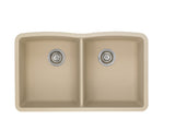 Blanco Silgranit Diamond - Undermount Kitchen Sink, Equal Double Bowl Biscotti 441223