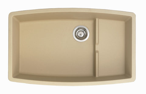 Blanco Silgranit Performa Cascade - Super Single Bowl Undermount Kitchen Sink Biscotti 441227