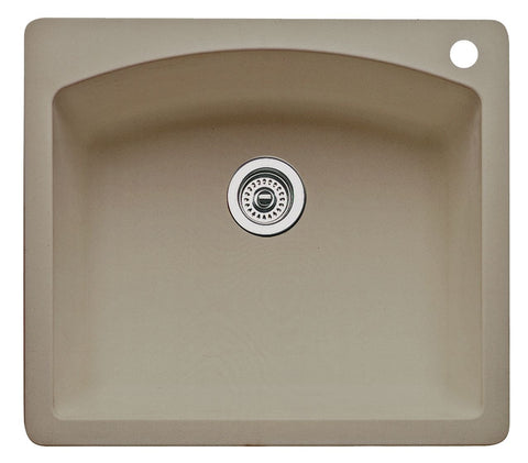 Blanco Silgranit Diamond - Dual Deck Single Bowl Kitchen Sink Truffle 441280