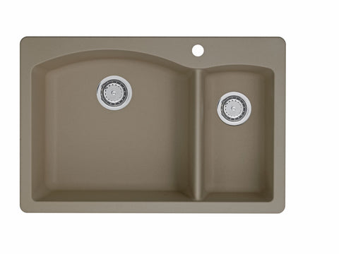 Blanco Silgranit Diamond - Dual Deck Kitchen Sink, 1-1/2 Bowl Truffle 441282