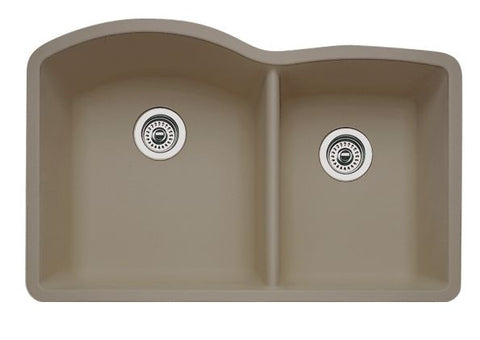 Blanco Silgranit Diamond - Undermount Kitchen Sink, 1-3/4 Bowl Truffle 441284
