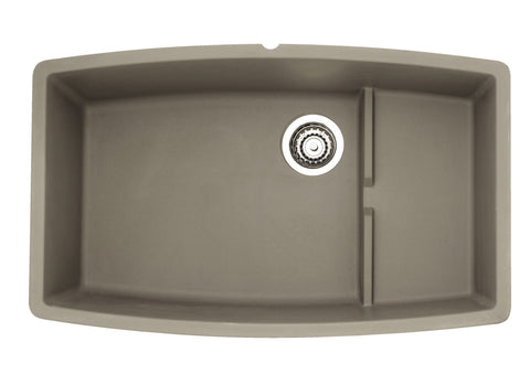 Blanco Silgranit Performa Cascade - Super Single Bowl Undermount Kitchen Sink Truffle 441291