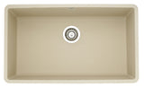 Blanco Silgranit Precis - Super Single Bowl Undermount Kitchen Sink Biscotti 441299
