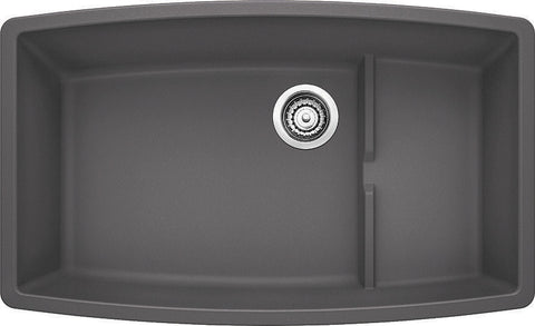 Blanco Silgranit Performa Cascade - Super Single Bowl Undermount Kitchen Sink Cinder 441476