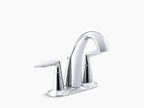 Kohler Alteo Two-Handle Centerset Lavatory Faucet K-45100-4-CP Chrome