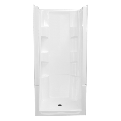 Clarion 36 inch 4-Piece Remodeling Shower 4S20C-WHT