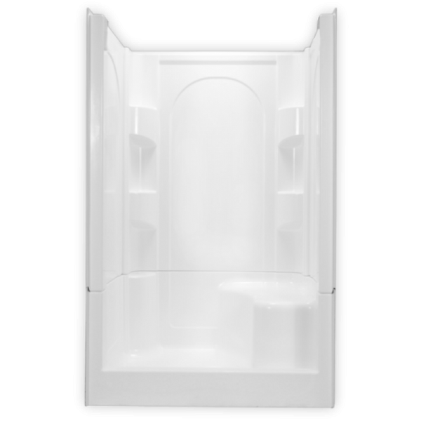 Clarion 48 inch 4-Piece Remodeling Shower Right Seat 4S30L/S-WHT