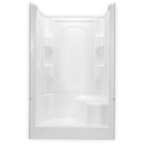 Clarion 48 inch 4-Piece Remodeling Shower Left Seat 4S30R/S-WHT