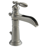 Delta Victorian Single Handle Lavatory Faucet with Channel Spout Metal Pop-up 554LF-SS Stainless