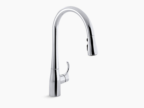 Kohler Simplice Single-Handle with Pull-Down Spout Kitchen Faucet K-596-CP Chrome