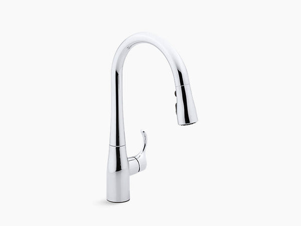 Kohler Simplice Single-Handle with Pull-Down Spout Kitchen Faucet K-597-CP Chrome