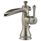 Delta Cassidy Single Handle Lavatory Faucet with Channel Spout Metal Pop-up 598LF-SSMPU Stainless