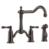 Brizo Tresa Two Handle Bridge Kitchen Faucet with Side Spray 62536LF-RB