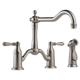 Brizo Tresa Two Handle Bridge Kitchen Faucet with Side Spray 62536LF-SS