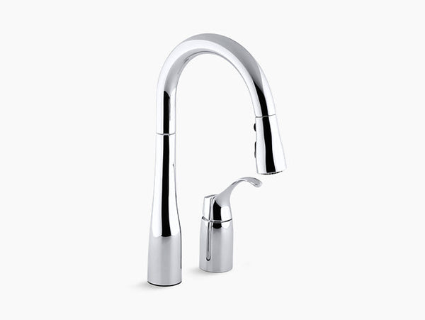 Kohler Simplice Two-Hole Kitchen Faucet with Pull-Down Spout K-649-CP Chrome