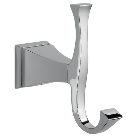 Delta Dryden Double Robe Hook 75135 Chrome