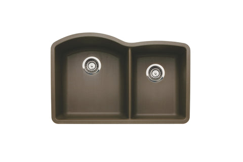 Blanco Silgranit Diamond - Undermount Kitchen Sink, 1-3/4 Bowl Cafe Brown 440177