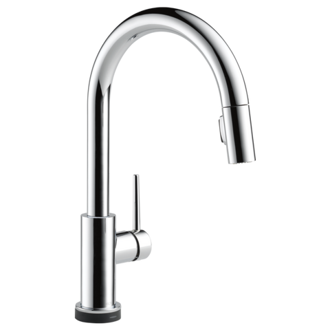 Delta Trinsic Single Handle Pull-Down Kitchen Faucet with Touch2O Technology 9159T-DST Chrome